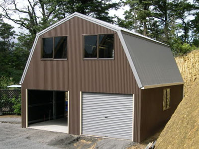 Quakers Barn in vertical corrugated COLORBOND from Fair Dinkum Sheds and Judds Garages