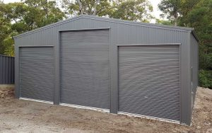 Triple garage with additional height