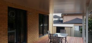 Insulated awning by Judds Garages, a family business based in Edgeworth NSW