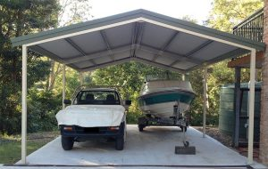 Gable carport in steel near Newcastle NSW