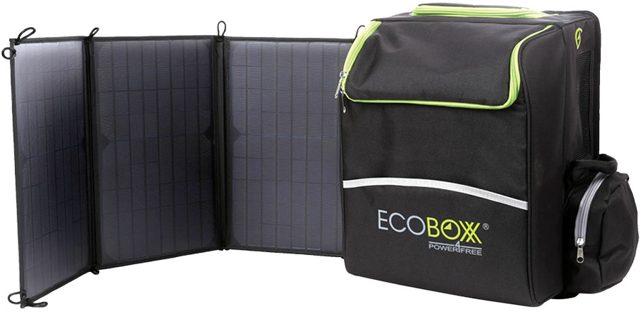EcoBoxx 300 portable solar power system from Judds Garages, official distributor for the Lake Macquarie area