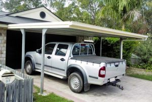Flat roof carport by Judds Garages in the Lake Macquarie region of New South Wales