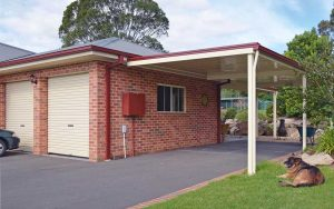 Flat roof awning in the Hunter region by Judds Garages