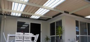 SOL Home Improvements awning with skylights