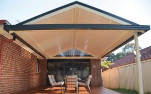 Gable awning from SOL Home Improvements by Judds Garages in Edgeworth, NSW