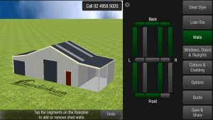 Preview the Fair Dinkum Sheds Designer app!
