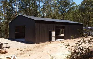 Large farm shed in Mandalong in COLORBOND Monument