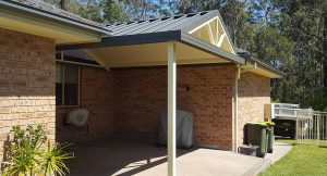 Gable awning with spokes near Fassifern - Judds Garages