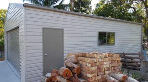 Single garage in Shale Grey M panel COLORBOND near Raymond Terrace