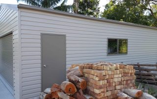Single garage in Shale Grey M panel COLORBOND near Raymond Terrace