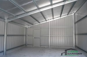 Single monopitch garage with non-standard roof pitch to match existing house, in Cooranbong