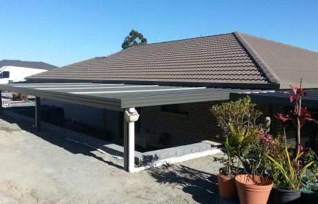 Customised awning in Cameron Park – Judds Garages