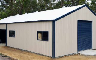 Southlakes Mens Shed in COLORBOND Classic Cream with Deep Ocean trim