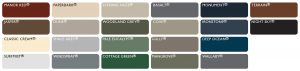 Stramit Colorbond colour chart for SOL Home Improvements shade structures